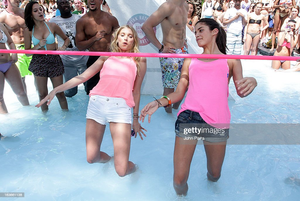 <a gi-track='captionPersonalityLinkClicked' href=/galleries/search?phrase=Elsa+Hosk&family=editorial&specificpeople=4436101 ng-click='$event.stopPropagation()'>Elsa Hosk</a> and Sara Sampaio attend the Victoria's Secret PINK Ultimate Spring Break Dance Party in Miami at Raleigh Hotel on March 13, 2013 in Miami Beach, Florida.
