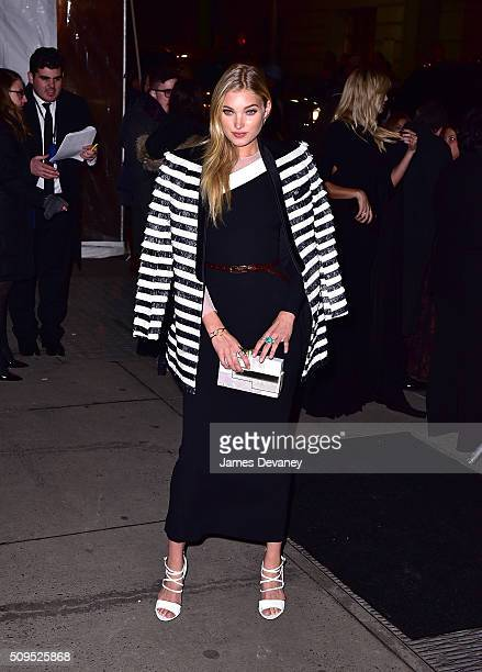 Elsa Hosk arrives to 2016 amfAR New York Gala at Cipriani Wall Street on February 10 2016 in New York City