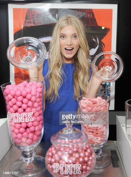 Elsa Hosk attends celebration to kick off the Subway Series hosted by Victoria's Secret PINK and Major League Baseball at MLB Fan Cave on June 20...