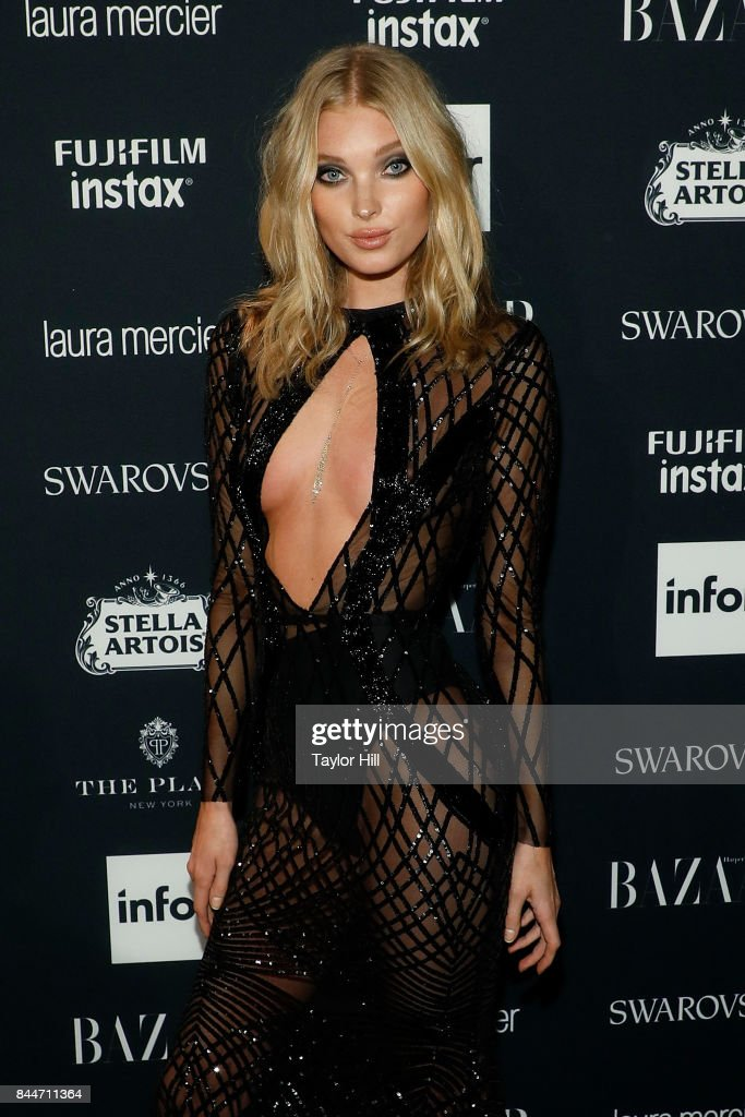 Elsa Hosk attends the 2017 Harper ICONS party at The Plaza Hotel on September 8, 2017 in New York City.