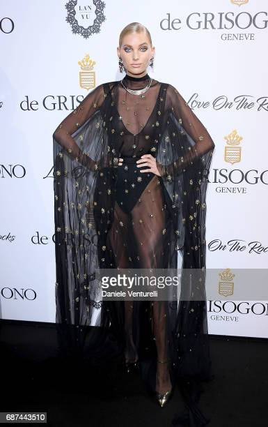 Elsa Hosk attends the De Grisogono 'Love On The Rocks' party during the 70th annual Cannes Film Festival at Hotel du CapEdenRoc on May 23 2017 in Cap...
