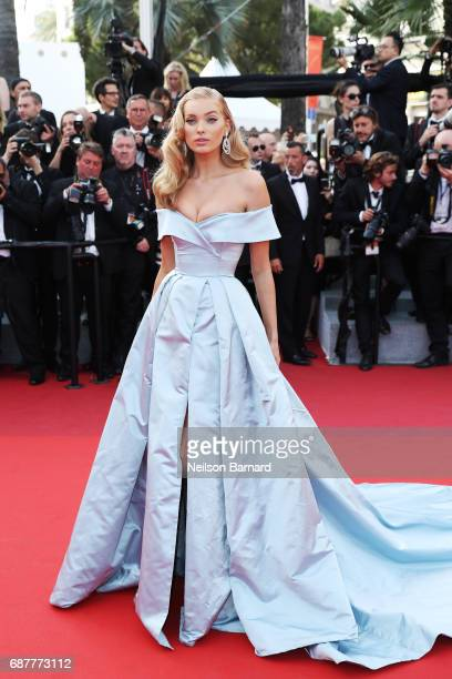 Elsa Hosk attends the 'The Beguiled' screening during the 70th annual Cannes Film Festival at Palais des Festivals on May 24 2017 in Cannes France