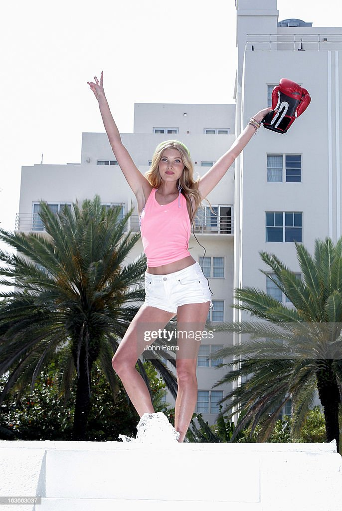 Elsa Hosk attends the Victoria's Secret PINK Ultimate Spring Break Dance Party in Miami at Raleigh Hotel on March 13, 2013 in Miami Beach, Florida.