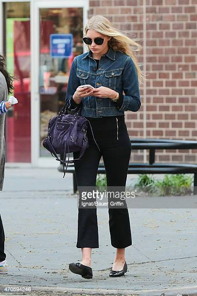 Elsa Hosk is seen in New York City on April 21 2015 in New York City