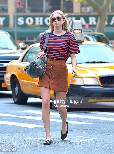 Elsa Hosk is seen in Tribeca on September 3 2015 in New York City