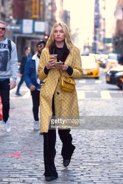 Elsa Hosk seen out in SoHo on April 9 2017 in New York City