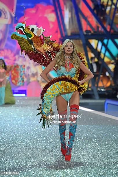 Elsa Hosk walks the runway during the 2016 Victoria's Secret Fashion Show on November 30 2016 in Paris France