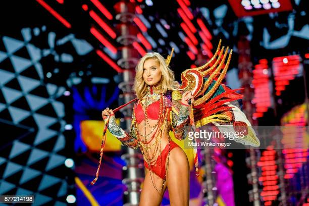Elsa Hosk walks the runway during the 2017 Victoria's Secret Fashion Show In Shanghai at MercedesBenz Arena on November 20 2017 in Shanghai China