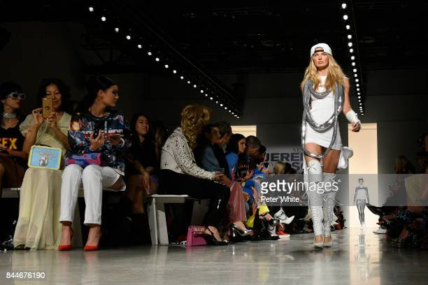 Elsa Hosk walks the runway during the Jeremy Scott fashion show during New York Fashion Week on September 8 2017 in New York City