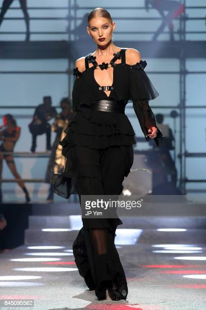 Elsa Hoskl walks the runway at the Philipp Plein fashion show during New York Fashion Week The Shows at Hammerstein Ballroom on September 9 2017 in...
