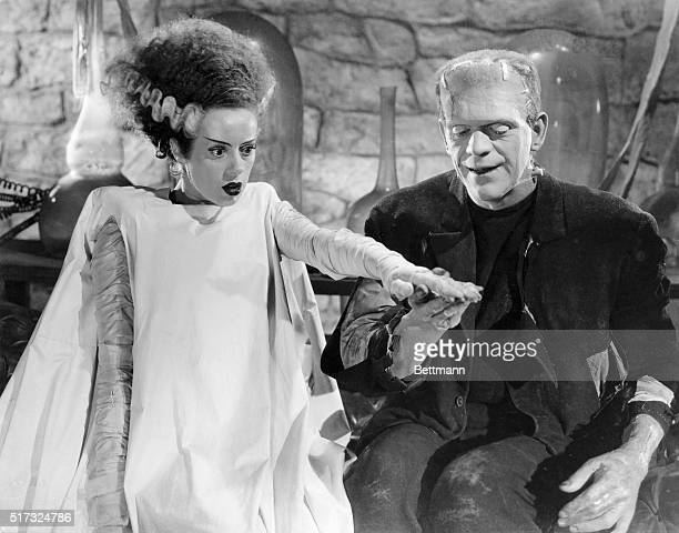 Elsa Lanchester and Boris Karloff in Bride of Frankenstein