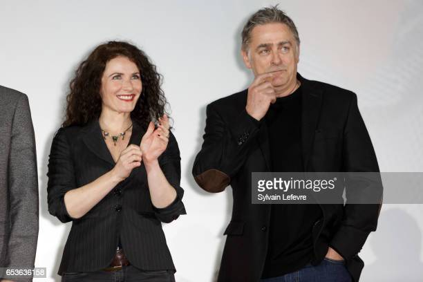 Elsa Lunghini and Pascal Plisson attend the 3rd day of Valenciennes Cinema Festival on March 15 2017 in Valenciennes France