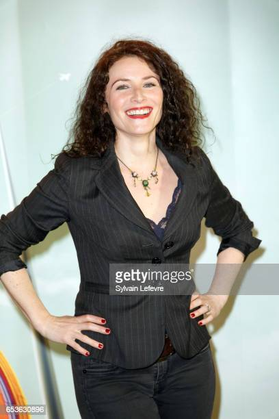 Elsa Lunghini attends the 3rd day photocall of Valenciennes Cinema Festival on March 15 2017 in Valenciennes France