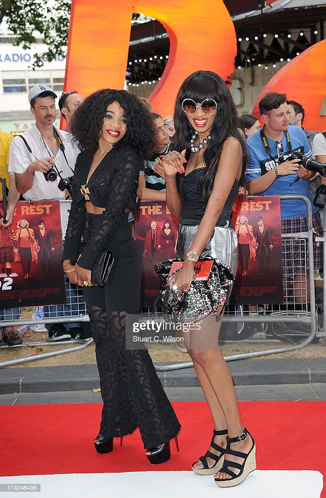 Elsa Major and Irene Major attends the European Premiere of 'Red 2' at Empire Leicester Square on July 22, 2013 in London, England.