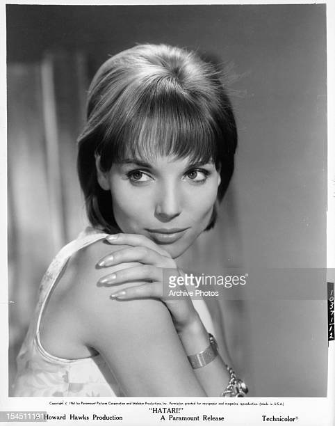 Elsa Martinelli publicity portrait for the film 'Hatari' 1962