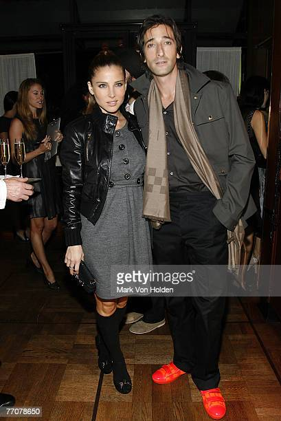 Elsa Pataky and Adrien Brody at the Louis Vuitton celebration for Wes Anderson and the new film 'The Darjeeling Limited' at La Grenouille Restaurant...