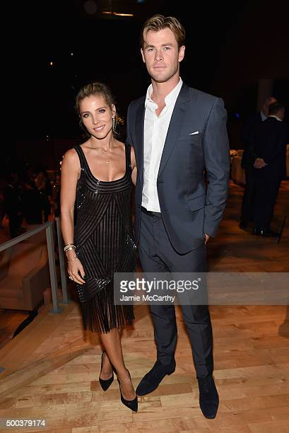 Elsa Pataky and Chris Hemsworth attend 'In The Heart Of The Sea' New York Premiere after party at Appel Room on December 7 2015 in New York City