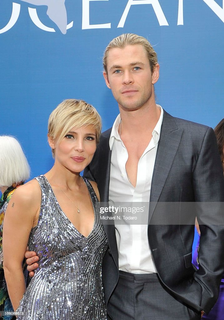Elsa Pataky and Chris Hemsworth attend Omega At The Oceana Ball at Christie's on April 8, 2013 in New York City.