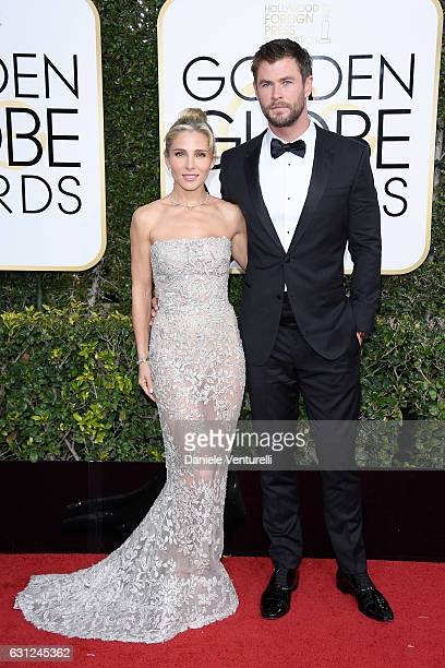 Elsa Pataky and Chris Hemsworth attend the 74th Annual Golden Globe Awards at The Beverly Hilton Hotel on January 8 2017 in Beverly Hills California
