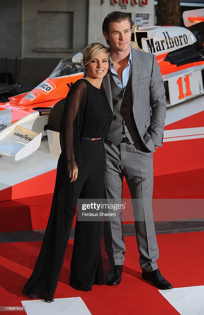 <a gi-track='captionPersonalityLinkClicked' href=/galleries/search?phrase=Elsa+Pataky&family=editorial&specificpeople=242789 ng-click='$event.stopPropagation()'>Elsa Pataky</a> and <a gi-track='captionPersonalityLinkClicked' href=/galleries/search?phrase=Chris+Hemsworth&family=editorial&specificpeople=646776 ng-click='$event.stopPropagation()'>Chris Hemsworth</a> attend the World Premiere of 'Rush' at Odeon Leicester Square on September 2, 2013 in London, England.