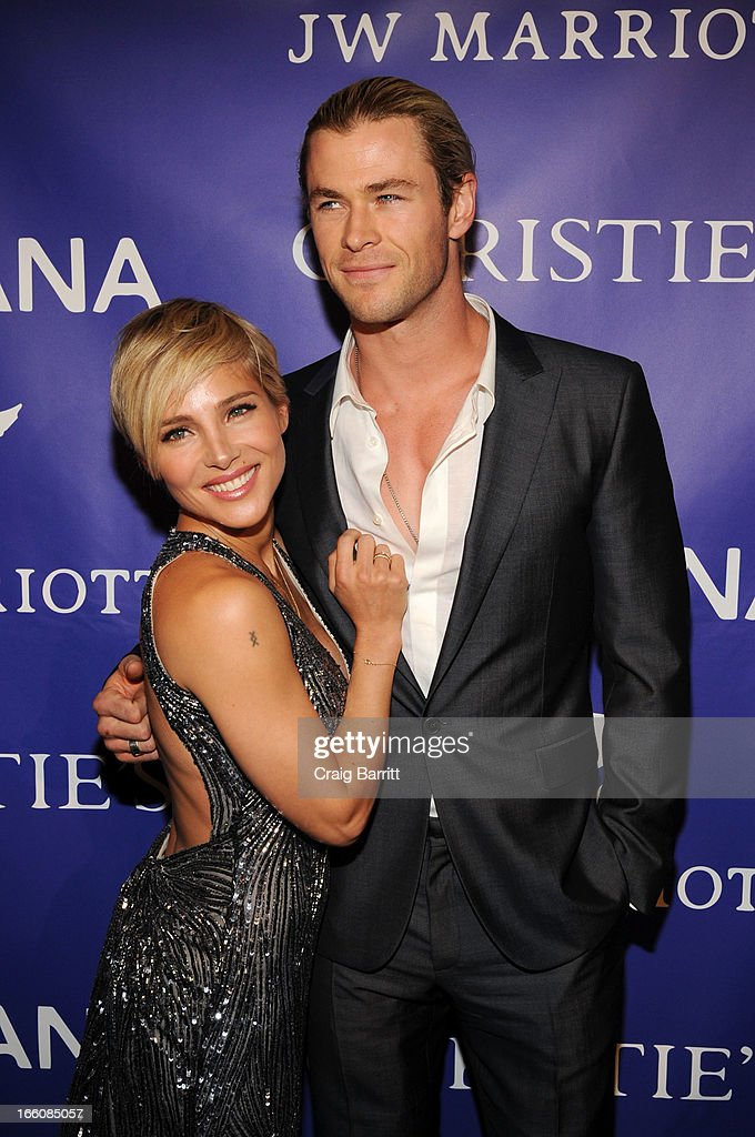 Elsa Pataky and Chris Hemsworth attends The Inaugural Oceana Ball at Christie's on April 8, 2013 in New York City.