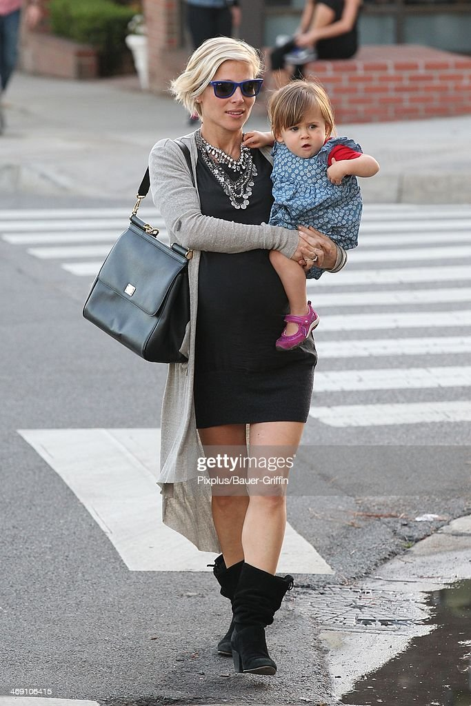 Elsa Pataky and daughter India Hemsworth are seen on February 12, 2014 in Los Angeles, California.