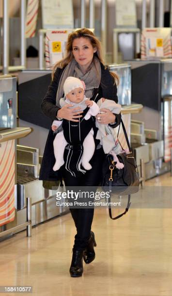 Elsa Pataky and her daughter India Rose Hemsworth are seen on November 29 2012 in Madrid Spain