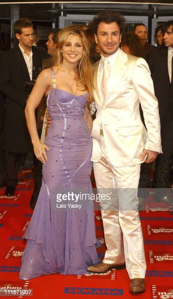 Elsa Pataky and Michael Youn during 2005 Spanish Academy of Cinematography Goya Awards at Madrid in Madrid Spain