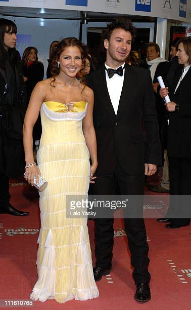 Elsa Pataky and Michael Youn during 2006 Spanish Academy Cinema Goya Awards at Palacio de Congresos in Madrid Spain