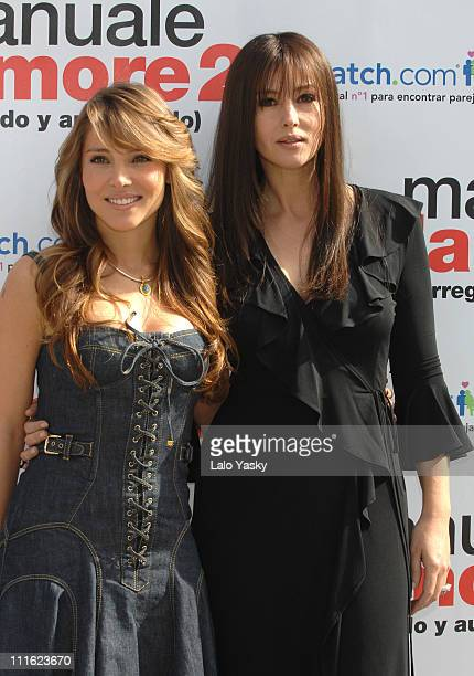 Elsa Pataky and Monica Bellucci during 'Manuale D'Amore 2' Photo Call February 15 2007 at Ritz Hotel in Madrid Spain