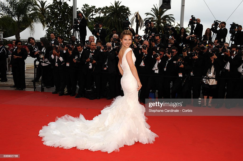 Elsa Pataky at the Premiere for 'You will meet a tall dark stranger' during the 63rd Cannes International Film Festival.