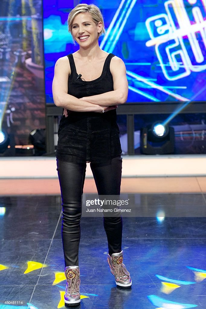 Elsa Pataky attends 'El Hormiguero' Tv show at Vertice Studio on June 11, 2014 in Madrid, Spain.