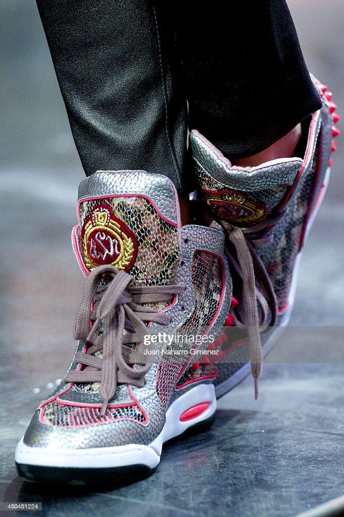 Elsa Pataky (shoe detail) attends 'El Hormiguero' Tv show at Vertice Studio on June 11, 2014 in Madrid, Spain.
