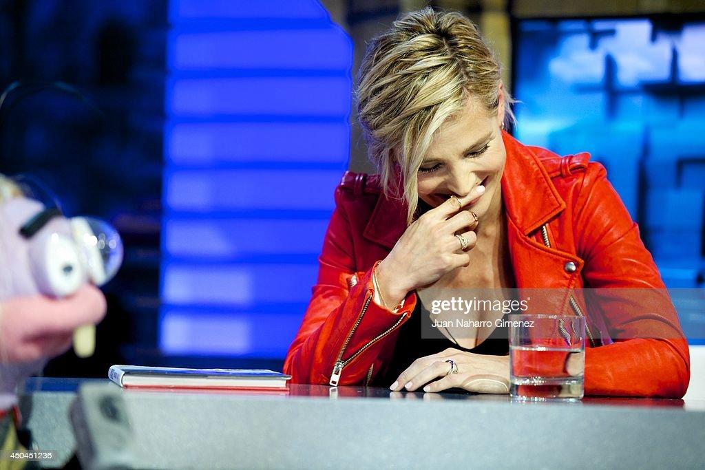 Elsa Pataky attends 'El Hormiguero' Tv show at Vertice Studio on June 11, 2014 in Madrid, Spain.