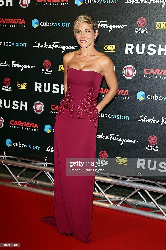 Elsa Pataky attends 'Rush' The Movie Rome Premiere at Auditorium della Conciliazione on September 14, 2013 in Rome, Italy.