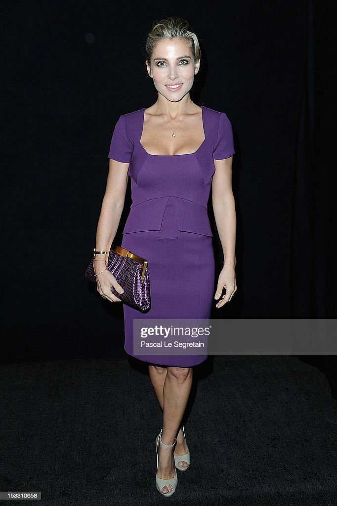 <a gi-track='captionPersonalityLinkClicked' href=/galleries/search?phrase=Elsa+Pataky&family=editorial&specificpeople=242789 ng-click='$event.stopPropagation()'>Elsa Pataky</a> attends the Elie Saab Spring/Summer 2013 show as part of Paris Fashion Week at Espace Ephemere Tuileries on October 3, 2012 in Paris, France.