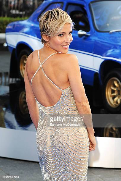 Elsa Pataky attends the World Premiere of 'Fast Furious 6' at Empire Leicester Square on May 7 2013 in London England