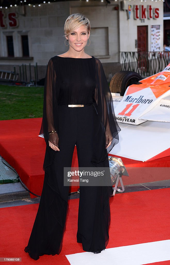 <a gi-track='captionPersonalityLinkClicked' href=/galleries/search?phrase=Elsa+Pataky&family=editorial&specificpeople=242789 ng-click='$event.stopPropagation()'>Elsa Pataky</a> attends the World Premiere of 'Rush' at the Odeon Leicester Square on September 2, 2013 in London, England.