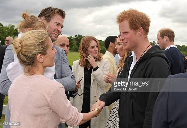 Elsa Pataky daugther India Rose Hemsworth Chris Hemsworth Stanley Tucci Felicity Blunt Prince Harry and Prince William Duke of Cambridge attend day...