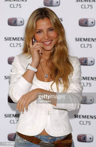 Elsa Pataky during Elsa Pataky Launches New Women Mobile Siemens CL 75 at El Museo del Traje in Madrid Spain