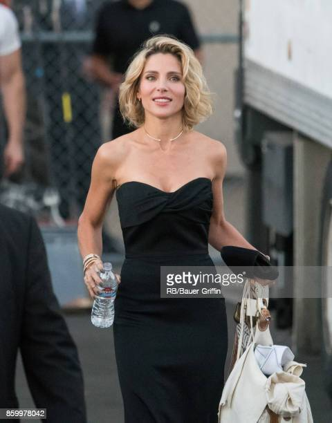Elsa Pataky is seen at 'Jimmy Kimmel Live' on October 10 2017 in Los Angeles California