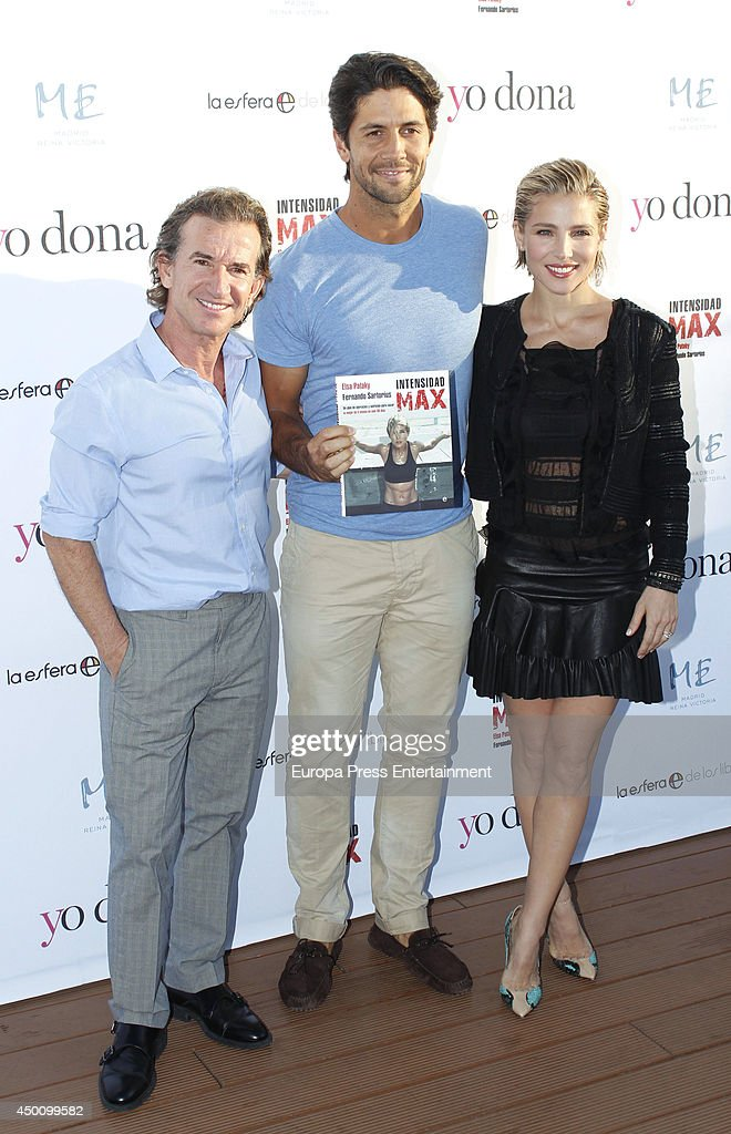 <a gi-track='captionPersonalityLinkClicked' href=/galleries/search?phrase=Elsa+Pataky&family=editorial&specificpeople=242789 ng-click='$event.stopPropagation()'>Elsa Pataky</a> (R) presents her new book 'Intensidad Max' with her personal trainer Fernando Sartorius (L) and tennis player <a gi-track='captionPersonalityLinkClicked' href=/galleries/search?phrase=Fernando+Verdasco&family=editorial&specificpeople=213930 ng-click='$event.stopPropagation()'>Fernando Verdasco</a> (C) in Madrid on June 4, 2014 in Madrid, Spain.