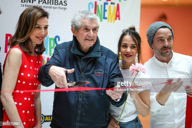 Elsa Zilberstein Claude Lelouch Alice Belaidi and Guillaume Gouix attend the Printemps Du Cinema 2017 Opening Ceremony at Cinema Pathe Beaugrenelle...
