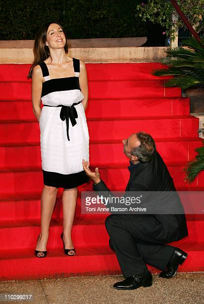 Elsa Zylberstein and Antoine Dulery during 2006 SaintTropez Fiction TV Festival 'Petits Meurtres en Famille' Screening at Place des Lices in...