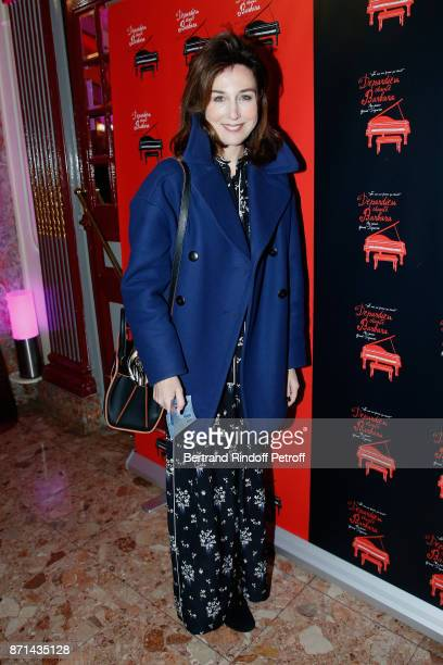 Elsa Zylberstein attends 'Depardieu Chante Barbara' at Le Cirque d'Hiver on November 7 2017 in Paris France