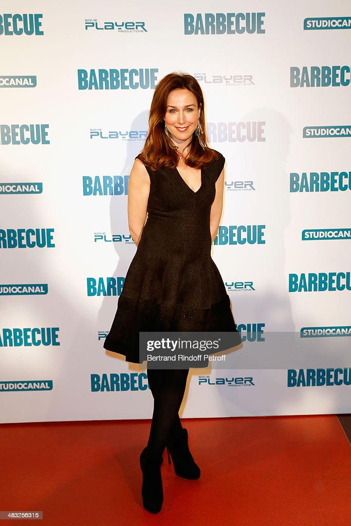 Elsa Zylberstein attends the 'Barbecue' Premiere at Cinema Gaumont Capucine on April 7 2014 in Paris France