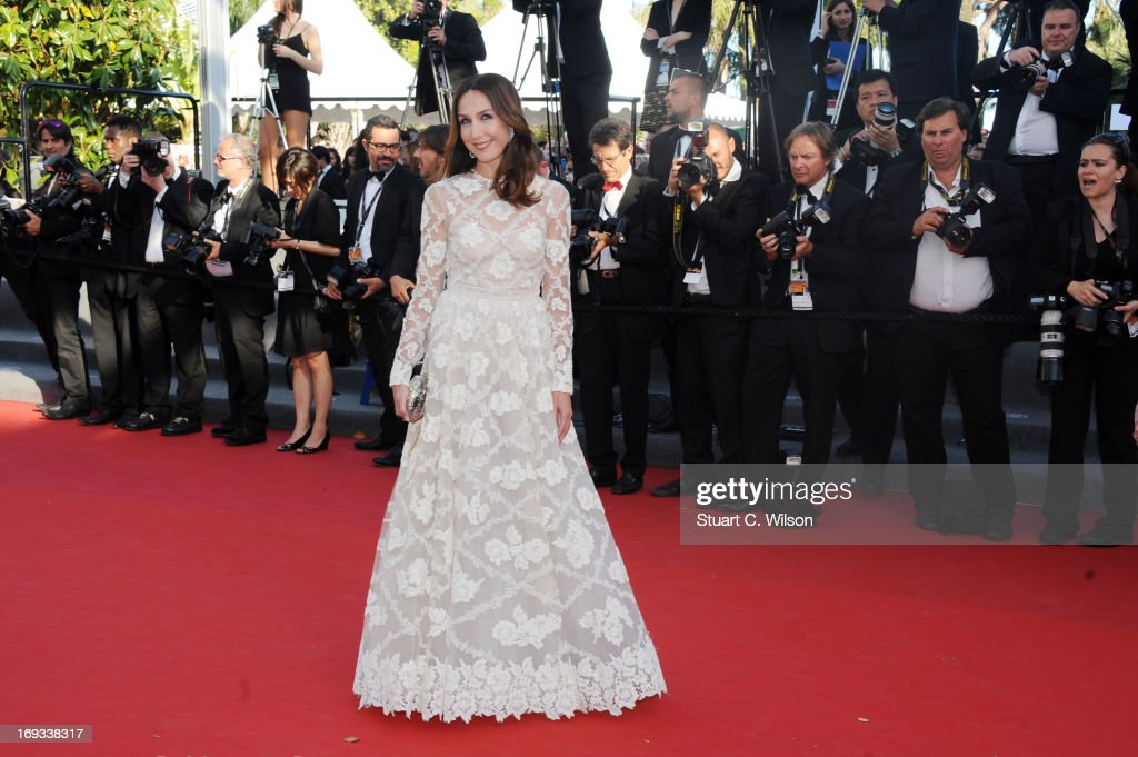 Elsa Zylberstein attends the 'Nebraska' premiere during The 66th Annual Cannes Film Festival at the Palais des Festival on May 23, 2013 in Cannes, France.