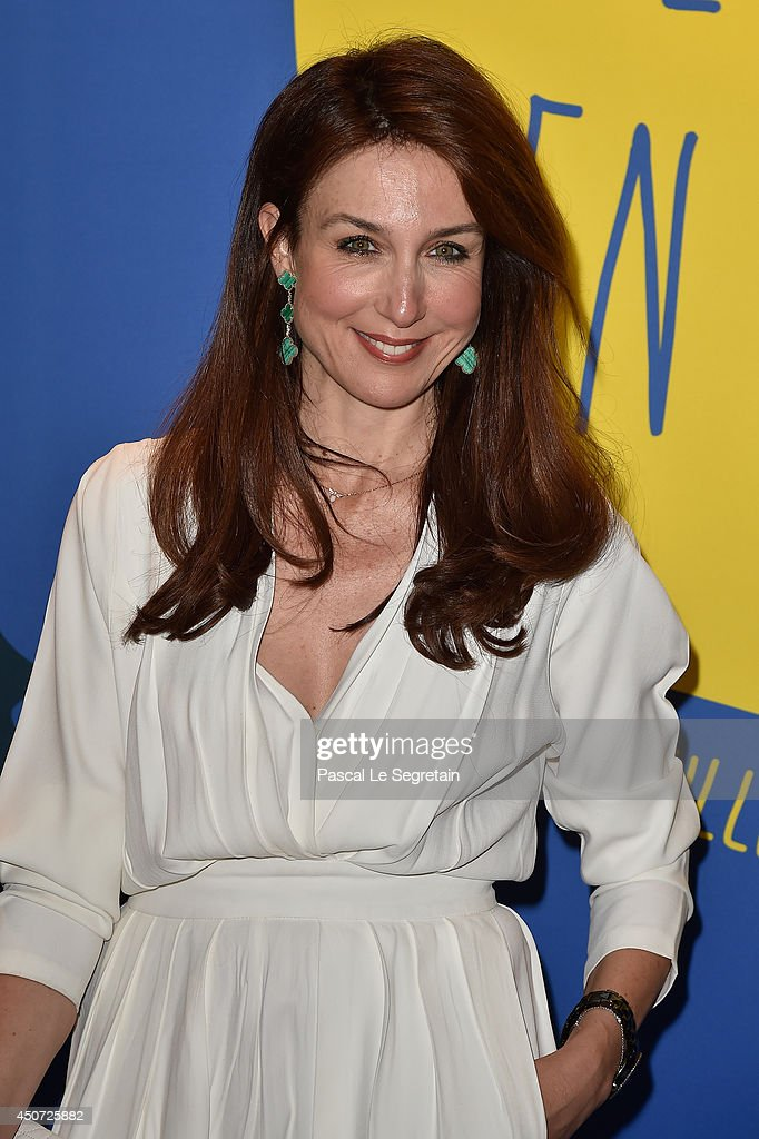 Elsa Zylberstein attends the 'Panorama des Nuits en or' gala dinner at UNESCO on June 16, 2014 in Paris, France.