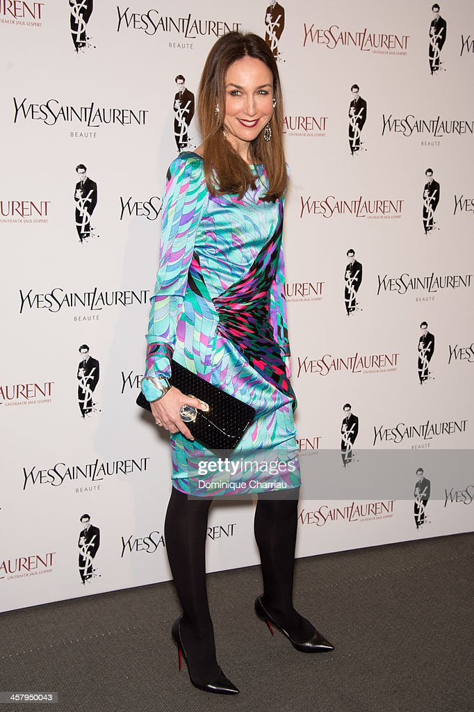 Elsa Zylberstein attends 'Yves Saint Laurent' Paris Premiere at Cinema UGC Normandie on December 19, 2013 in Paris, France.