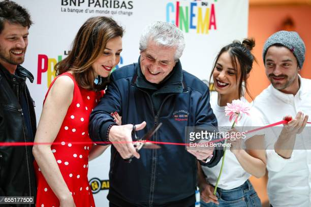 Elsa Zylberstein Claude Lelouch Alice Belaidi and Guillaume Gouix attend the Printemps Du Cinema 2017 Opening Ceremony at Cinema Pathe Beaugrenelle...